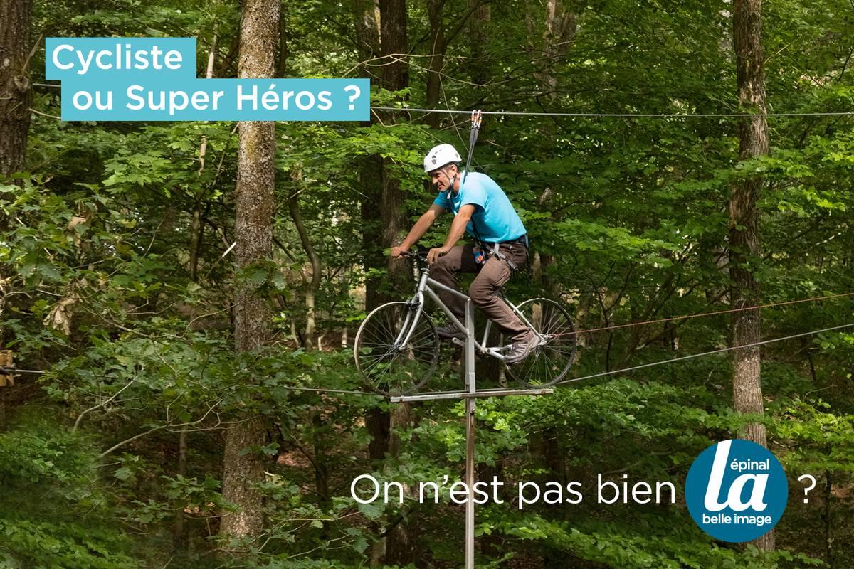 Cycliste ou super héros ?