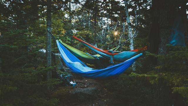 Dormir en hammac - Dormir en pleine nature dans les Vosges
