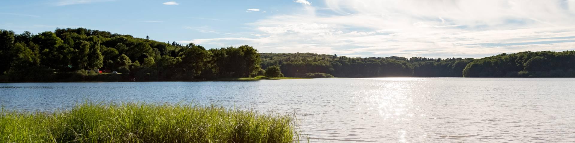 Randonnée autour du lac de Bouzey.
