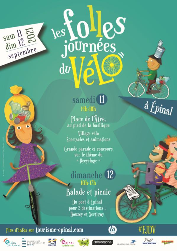 Les Folles Journées du Vélo - Animation vélo Epinal - Concours vélo Epinal - Vélo Vosges