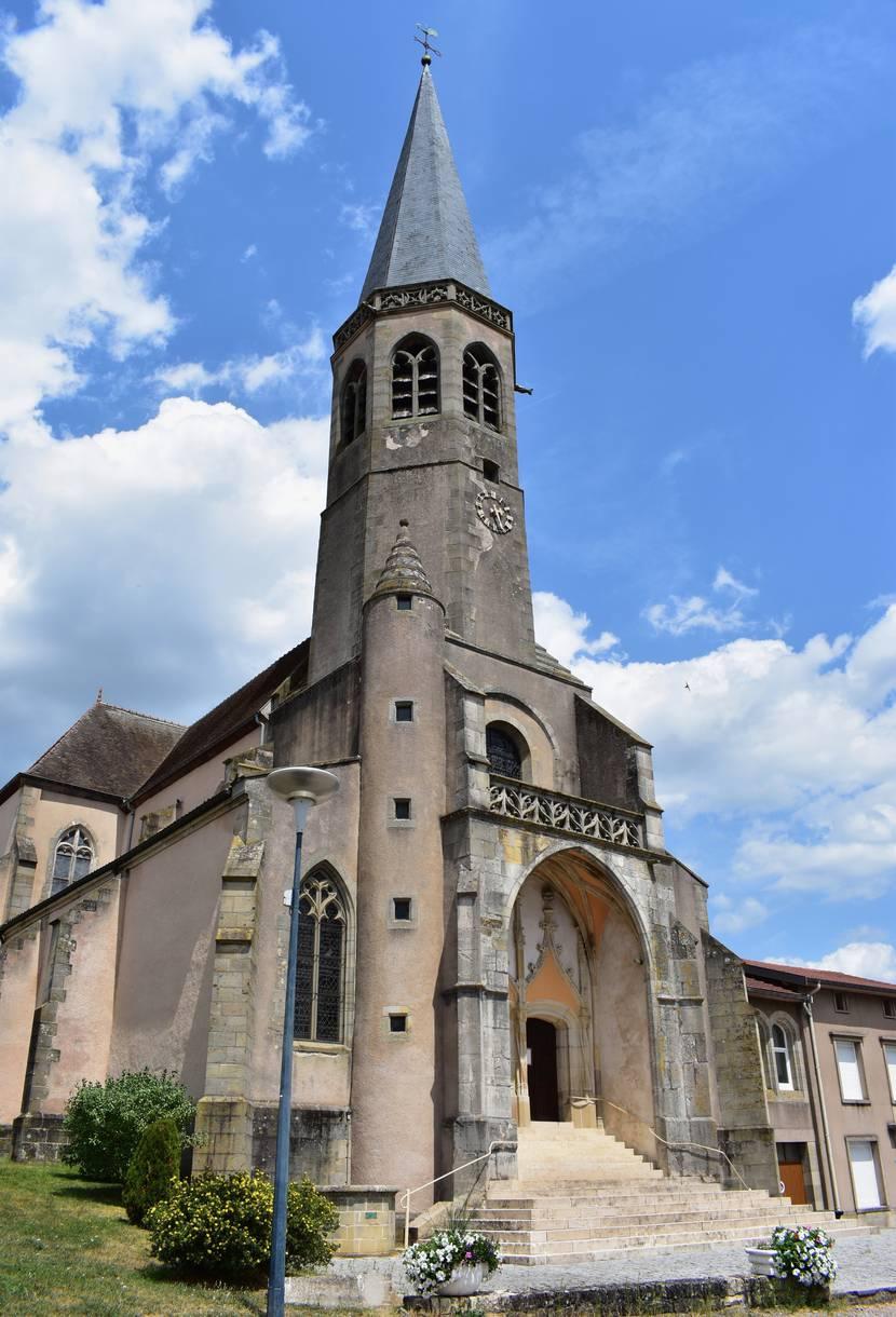 Eglise de Saint Laurent Châtel sur Moselle - Forteresse Vosges - Patrimoine Vosges