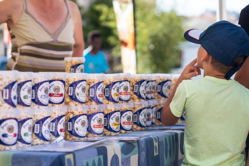 Marché Epinal - Marché couvert - Produits locaux - Produits du terroir - Produits vosgiens - Marché du terroir - Place aux producteurs - Producteurs locaux - Pop corn salé