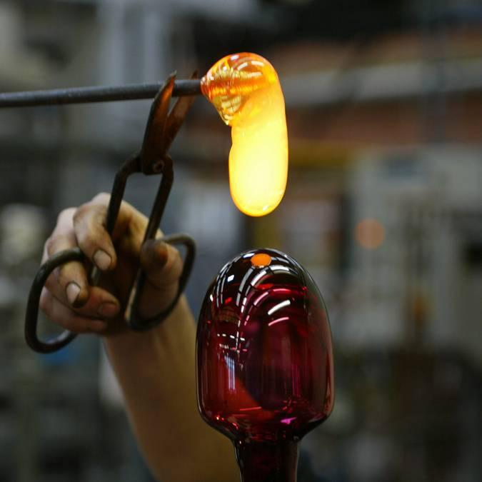 Verre à la Cristallerie de Portieux - Travail du verre